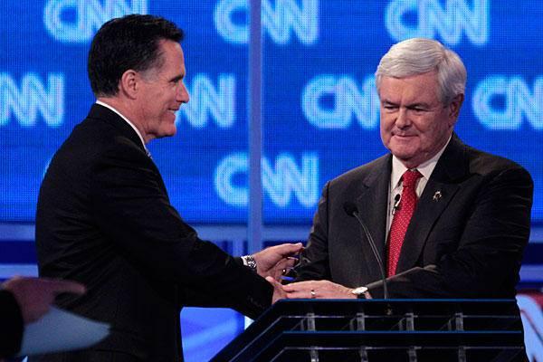 Usa, primarie repubblicane: aspro faccia a faccia tra Romney e Gingrich che si dimenticano di Obama