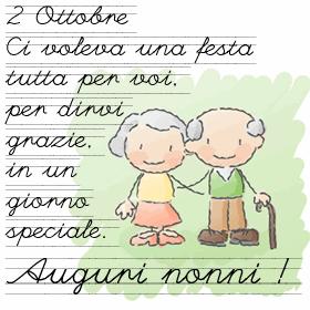 Un amore grande : 2 Ottobre festa dei Nonni