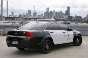 Automobile della polizia americana