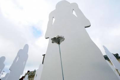 Esposizione contro il femminicidio (getty images)