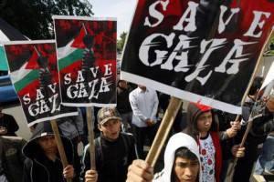 Proteste dei pacifisti per Gaza