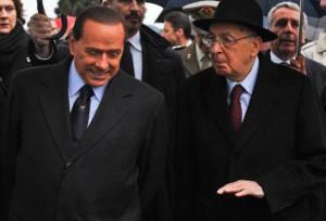 Berlusconi e Napolitano (Getty Images)