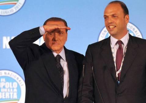 Berlusconi e Alfano (Getty Images)