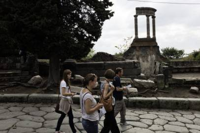 Turisti a Pompei (ROBERTO SALOMONE/AFP/Getty Images)