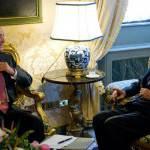 """Fini porta i saluti di Obama a Napolitano: """"Un grande uomo"""""""