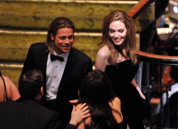 Oscar 2012: Brad Pitt e Angelina Jolie protagonisti del red carpet di LA (fotogallery)