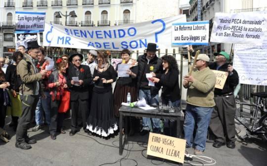 Madrid: la Piattaforma Eurovegas NO manifesta a Puerta del Sol