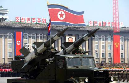 Missili in parata a Pyongyang, Corea del Nord (getty images)