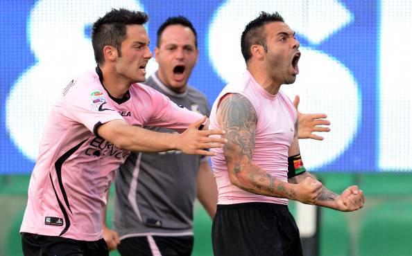 Serie A: Palermo – Catania 1-1. Miccoli risponde a Legrottagle