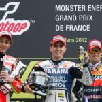 """MotoGp 2012, Valentino Rossi: """"Avevo nostalgia del podio, ora bisogna essere più competitivi sull'asciutto"""""""