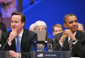 David Cameron e Barack Obama (getty images)