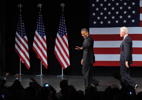 Bill Clinton alla convention di Charlotte. Sostegno a Barack Obama e a Hillary