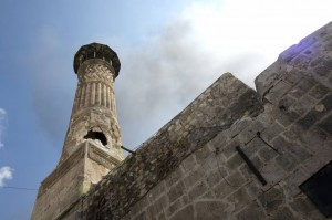 Il minareto della Grande Moschea di Aleppo (getty images)
