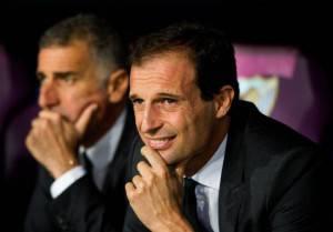 Massimiliano Allegri durante Malaga-Milan (Getty Images)