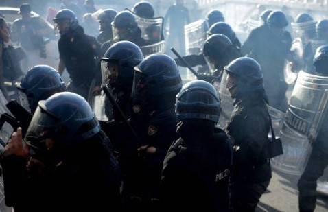 Violenze di piazza (getty images)