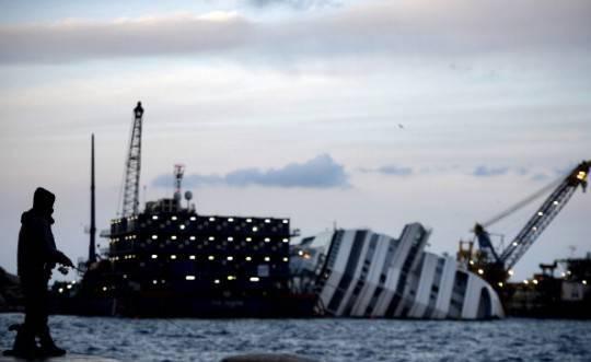 Rotazione Concordia rinviata per condizioni meteo