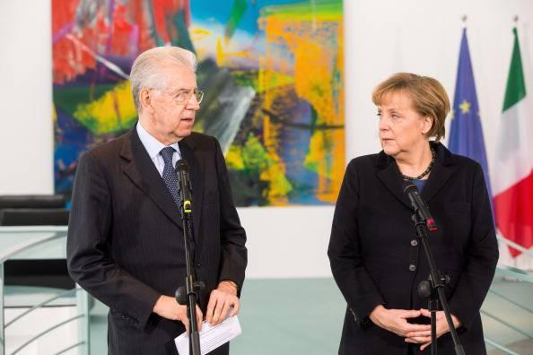 """Incontro Monti-Merkel: """"Fiducia sull'accordo relativo al prossimo bilancio europeo"""""""