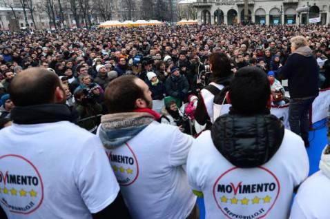 Attivisti del Movimento 5 Stelle (GIUSEPPE CACACE/AFP/Getty Images)