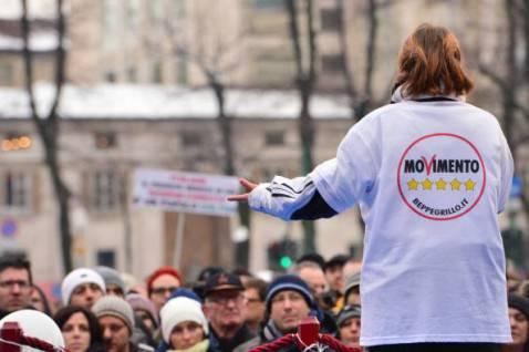 Militante del Movimento 5 Stelle (Getty Images)