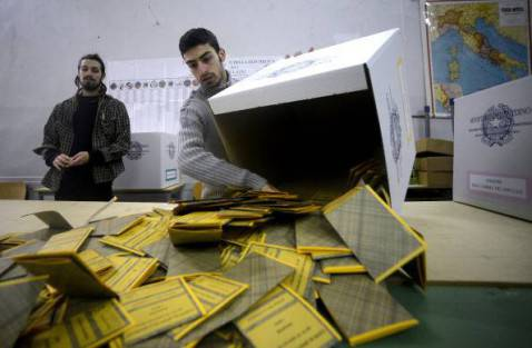 Italia al voto (FILIPPO MONTEFORTE/AFP/Getty Images)