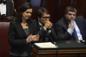 Laura Boldrini, appena eletta Presidente della Camera (Getty Images)