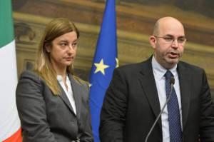 Roberta Lombardi e Vito Crimi (Getty Images)