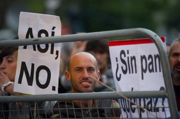 Madrid: assedio al Congresso. 15 persone arrestate