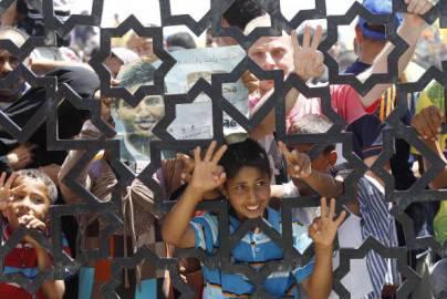 Bambini palestinesi (SAID KHATIB/AFP/Getty Images)