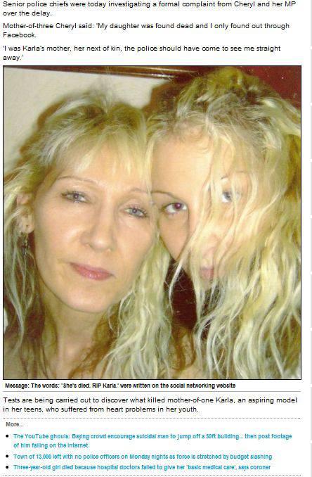 Incredibile: scopre la morte della figlia attraverso Facebook…