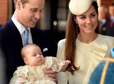 Il battesimo del Royal Baby (JOHN STILLWELL/AFP/Getty Images)