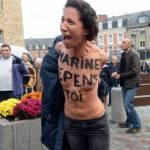 """Bretagna. Femen contro Marine Le Pen: """"Scegli il femminismo, non il fascismo"""""""