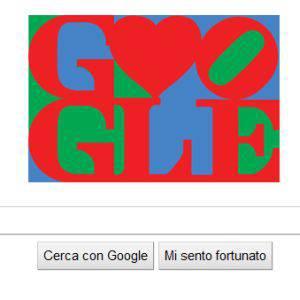 San Valentino: Google celebra il 14 febbraio con un Doodle di Robert Indiana