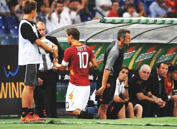 Roma: Totti e Luis Enrique è pace?