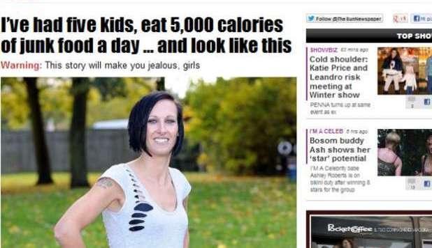 La donna che non ingrassa mai: mangia cibo 'spazzatura' per 5000 calorie al giorno ma…
