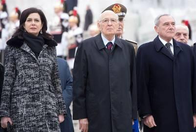 Le alte cariche dello Stato (foto Presidenza della Repubblica)