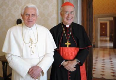 Joseph Ratzinger e Camillo Ruini (OSSERVATORE ROMANO FRANCESCO SFO/AFP/Getty Images)