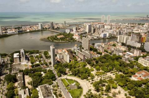 La città brasiliana di Manaus (Foto di Portal da copa da Wikicommons. Licenza: CC-BY-3.0-br)