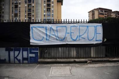 Striscione per Ciro Esposito (getty Images)