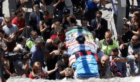 Funerali di Ciro Esposito (Screenshot Ansa)