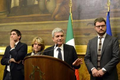 Fratoianni, De Petris, Vendola, Migliore (ANDREAS SOLARO/AFP/Getty Images)