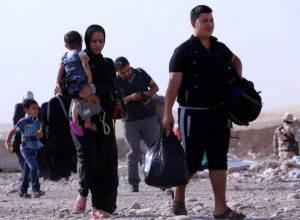 Fuga dalle regioni curde (SAFIN HAMED/AFP/Getty Images)