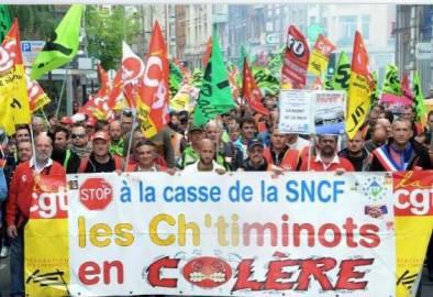 Sciopero treni Francia (screen shot new.fr)