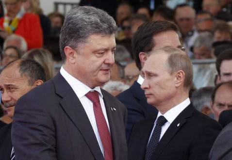 Petro Poroshenko e Vladimir Putin (Getty images)