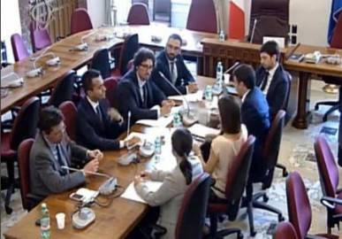 Incontro Pd e M5S su Legge elettorale (screen shot diretta streaming)