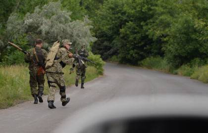 Separatisti filorussi a Sloviansk (Getty images)