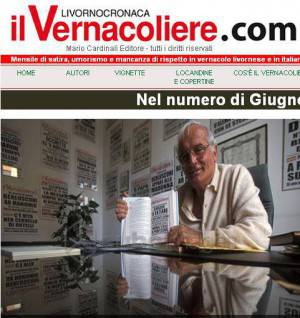 Mario Cardinali direttore del Vernacoliere (screen shot hompage Vernacoliere.com)