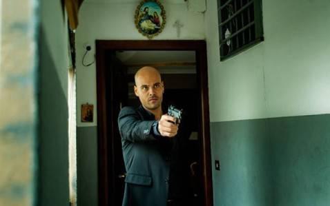 Uno dei protagonisti della serie tv Gomorra (screenshot Sky)