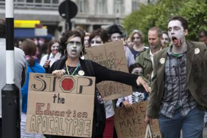 Sciopero dei lavoratori pubblici in Gran Bretagna ( Oli Scarff/Getty Images)