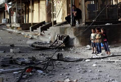 Bambini palestinesi a Gaza (Getty images)