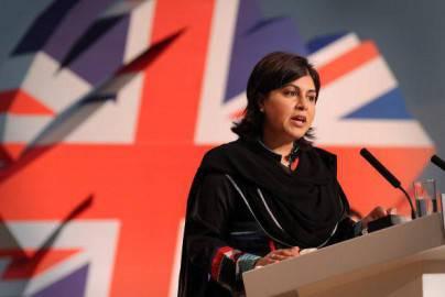 L'ex sottosegretaria britannica Sayeeda Warsi (Peter Macdiarmid/Getty Images)